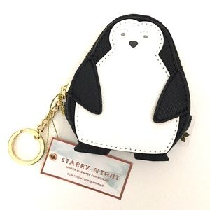 PAPER DESTINY Starry Night Penguin Coin Pouch